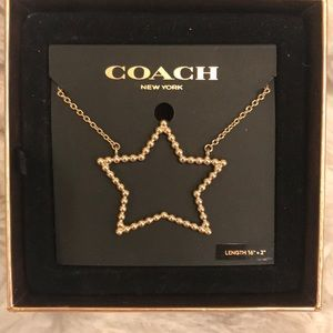 Coach Large Gold Open Star Necklace